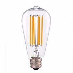 LED Διάφανες Νήματος Τύπου LONG Λάμπα Αβοκάντο ST64 E27 8W 360º 230V Led Id