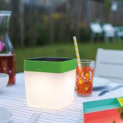LED Ηλιακό Επιτραπέζιο Φορητό Φωτιστικό 2.3W IP44 Σε Διάφορα Χρώματα TABLE CUBE LUTEC