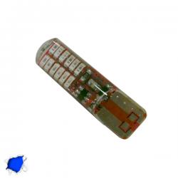 Λαμπτήρας T10 24 SMD Σιλικόνης Μπλε Strobe Globostar