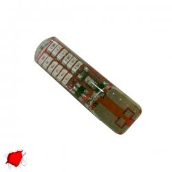 Λαμπτήρας T10 24 SMD Σιλικόνης Κόκκινο Strobe Globostar