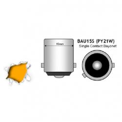 Λαμπτήρας BAU15S 45 SMD 4014 Can Bus 10-30v Πορτοκαλί