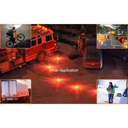 Αδιάβροχος Φάρος LED Μπαταρίας Έκτακτης Οδικής Ανάγκης με Μαγνήτη και Φακό GloboStar