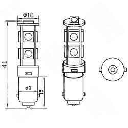 Λαμπτήρας Ba9s Can Bus με 9 SMD 5050 Ψυχρό Λευκό