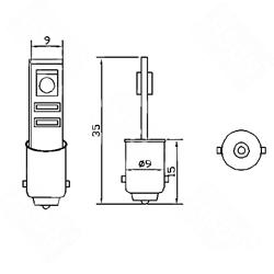 Λαμπτήρας Βa9s Can Bus με 2 SMD 5050 Ψυχρό Λευκό