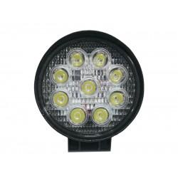 LED Round Floodlight 27 Watt 10-30 Volt DC Cool white