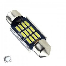 Σωληνωτός LED 39mm Can Bus με 12 SMD 4014 12-24 Volt Ψυχρό Λευκό 6000k GLOBO STAR