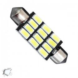 Σωληνωτός LED PCB 42mm με 12 SMD 5630 Samsung Chip Λευκό 6000k GLOBO STAR