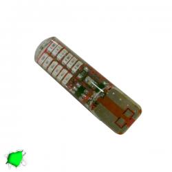 Λαμπτήρας T10 24 SMD Σιλικόνης Πράσινο Strobe Globostar
