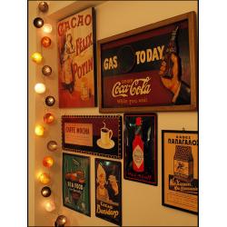 Έτοιμη Διακοσμητική Γιρλάντα Beelights  Με Φωτάκια Σε Χρωματισμούς Caffe Mocha