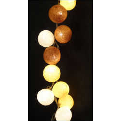 Decorative Festoon Beelights with Lamps in Natura Colours