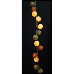Έτοιμη Διακοσμητική Γιρλάντα beelights Με Φωτάκια Σε Χρωματισμούς Olive