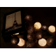 Decorative Festoon Beelights with Lamps in Shades of Gray