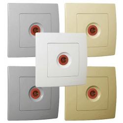 Recessed Socket TV-Passage Lillium In Various Colors Makel