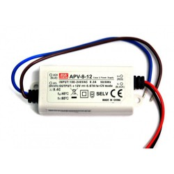 8W Plastic Power Supply 12V 0.67A MeanWell