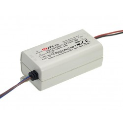 12W Plastic Power Supply 24V 0.5A MeanWell
