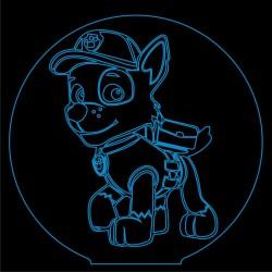 LED Φωτιστικό Χαραγμένο Plexiglass Με Paw Patrol Rocky Με Διακόπτη ON/OFF Plexi
