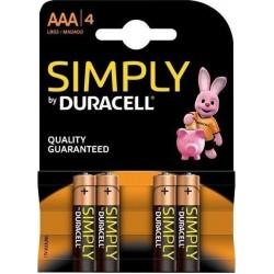 Μπαταρίες Αλκαλικές DURACELL Simply AAA LR03 4τμχ