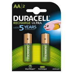 Rechargeable batteries DURACELL Precharged Ultra AA 2500mAh 2pc