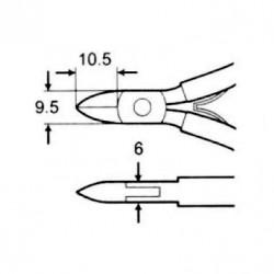 Κόφτης Πλάγιος Ανοξείδωτος 110mm 1PK-22 T/PRO Pro'sKit