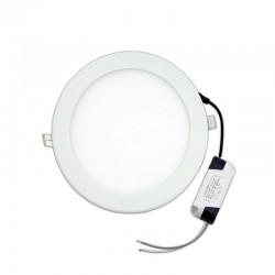 20W LED Slim Panel Χωνευτό Φ225 120° Λευκό Eurolamp