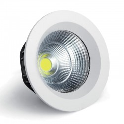55W LED COB Downlight Φ230 Λευκό Eurolamp