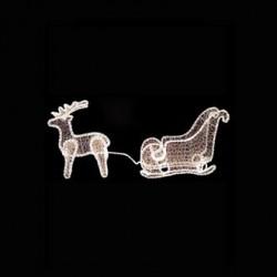 LED Rope Light Acrylic Car With 1 Deer 130x30x65 IP44 Magic Christmas