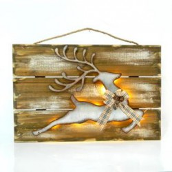 Wooden Frame with a Deer 46x30 Magic Christmas