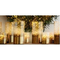 Fairy Lights 250 Led Χταπόδι 10 Γραμμών Με Πρόγραμμα Και Μετασχηματιστή Ασημί Χαλκός Αδιάβροχα IP44 Magic Christmas