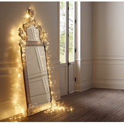 Fairy Lights 200 Led Σε Σειρά Με Μετασχηματιστή Ασημί Χαλκός Αδιάβροχα IP44 Magic Christmas