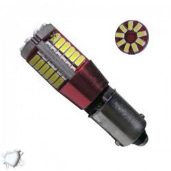 Λαμπτήρας LED BA9S 57 SMD 3014 Can Bus 12 Volt Ψυχρό Λευκό Globostar