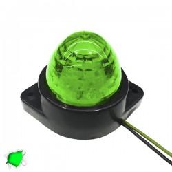 LED Πλευρικά Φώτα Όγκου Φορτηγών BULLET IP66 6 SMD 24 Volt Πράσινο GloboStar