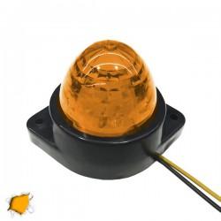 LED Πλευρικά Φώτα Όγκου Φορτηγών BULLET IP66 6 SMD 24 Volt Πορτοκαλί GloboStar