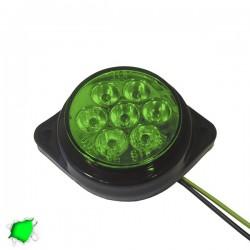 LED Πλευρικά Φώτα Όγκου Φορτηγών BULLET IP66 7 SMD 24 Volt Πράσινο GloboStar