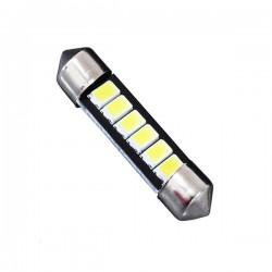 Σωληνωτός LED 39mm με 6 SMD 5630 Samsung Chip Λευκό 6000k GloboStar