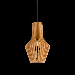 Κρεμαστό Μονόφωτο Οροφής Από Φυσικό Ξύλο 1xE27 CITRUS-1 SP1 IDEAL LUX