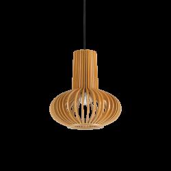 Κρεμαστό Μονόφωτο Οροφής Από Φυσικό Ξύλο 1xE27 CITRUS-2 SP1 IDEAL LUX