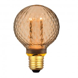LED Filament Amber Glass G80 E27 4W 230V Dimmable Led Id