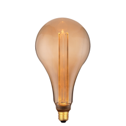 LED Filament Amber Glass S165 E27 4W 230V Dimmable Led Id
