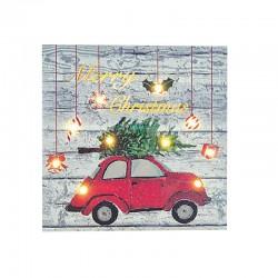 Frame With Car 15 LED 25x25x3cm Magic Christmas