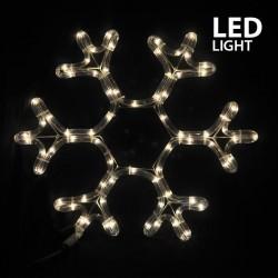 LED Rope Light Snowflake IP44 Warm White Magic Christmas