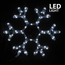 LED Rope Light Snowflake IP44 White Magic Christmas
