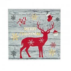 Frame With Reindeer 15 LED 25x25x3cm Magic Christmas