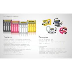 Φορτιστής NITECORE Q4 Quick charger 2A Ροζ