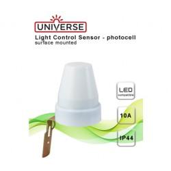 Αισθητήρας Μέρα-Νύχτα IP44 10A 230V Λευκός Universe