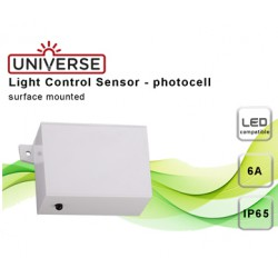 Day-Night Sensor IP65 10A 230V White Universe