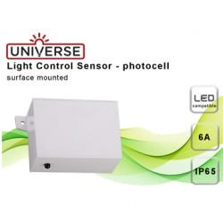Αισθητήρας Μέρα-Νύχτα IP65 10A 230V Λευκός Universe