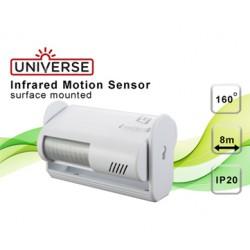Input / Output Motion Sensor IP20 160 ° 9VDC White Universe