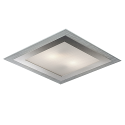 Ceiling lamp Glass Satin With Decoration And Chrome Base Sq Chloe 2xE27  VIOKEF
