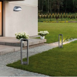 LED 13W Εξωτερικός Στήλος Κήπου Αλουμινίου Με Σκιάδιο Από PC H300 Jason VIOKEF