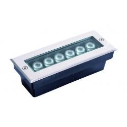 LED Εξωτερικό Χωνευτό Επιδαπέδιο Φωτιστικό Ανοξείδωτο Ματ 6W 200x80 Lotus VIOKEF